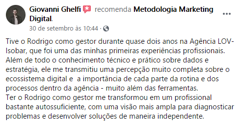 Maratona Metodologia Marketing Digital Giovanni Ghelfi
